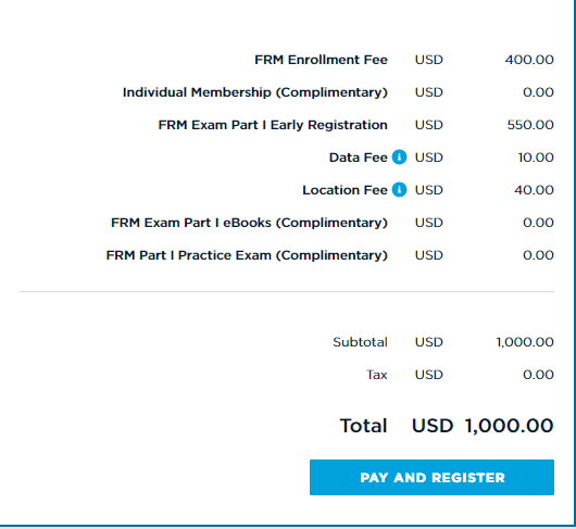 FRM一级费用